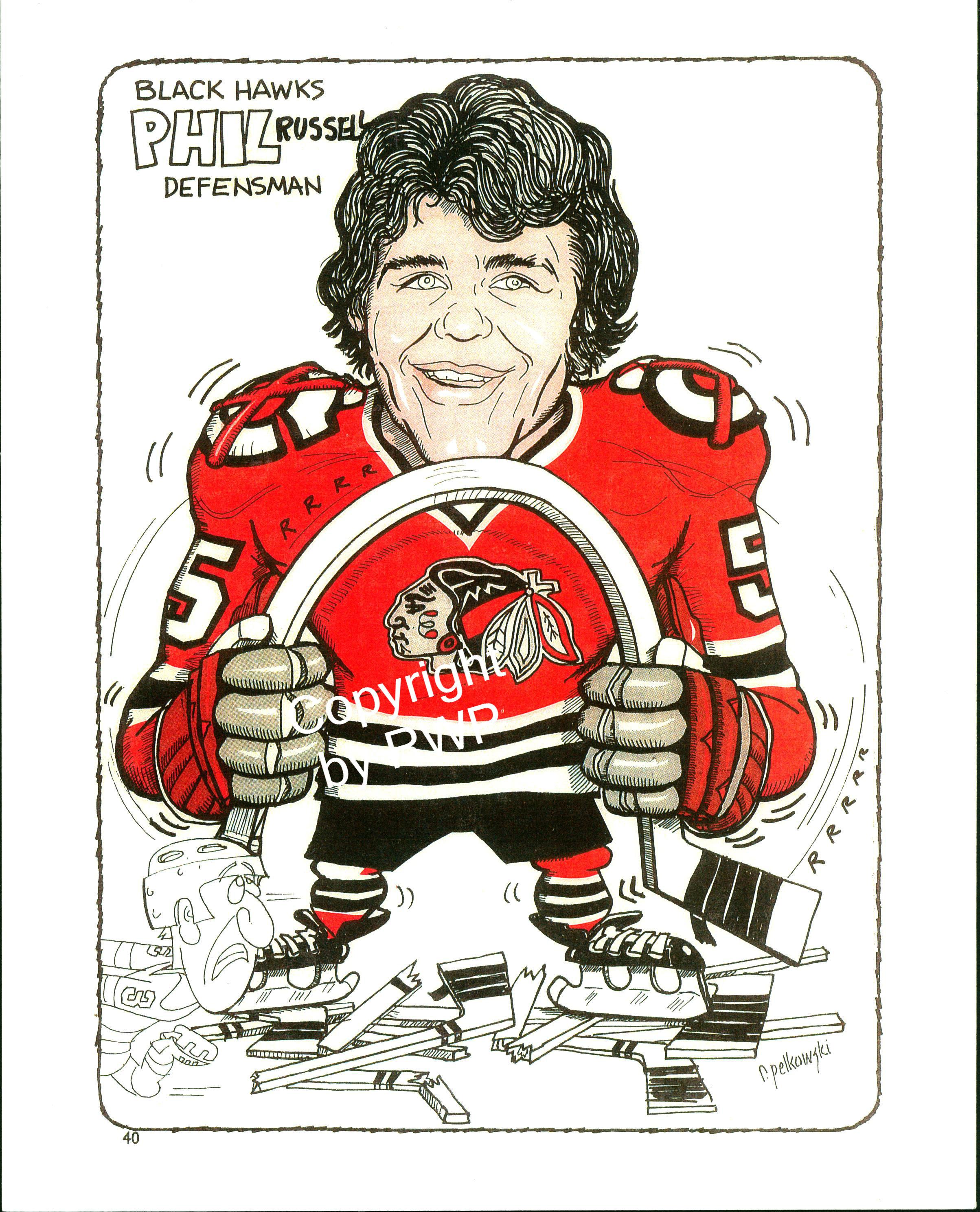 VINTAGE 70-80's BLACKHAWKS - PLAYERS