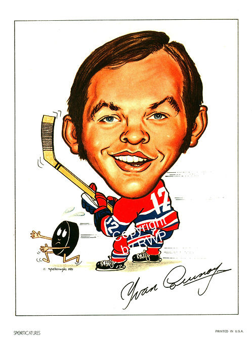 Sporticatures Yvan Cournoyer