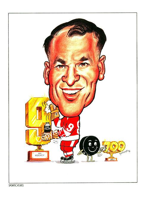 Sporticatures Gordie Howe