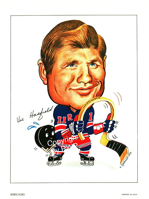 Sporticatures Vic Hadfield NY