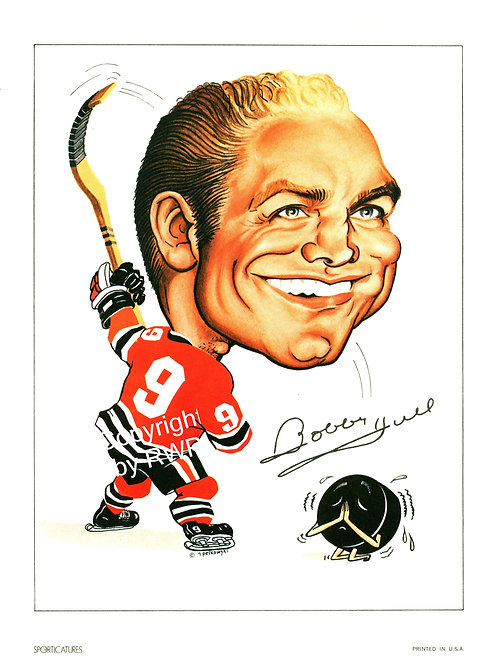 Sporticatures Bobby Hull CB