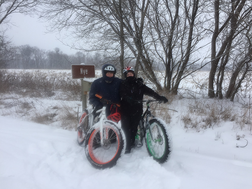 Fat-tire biking in the snow