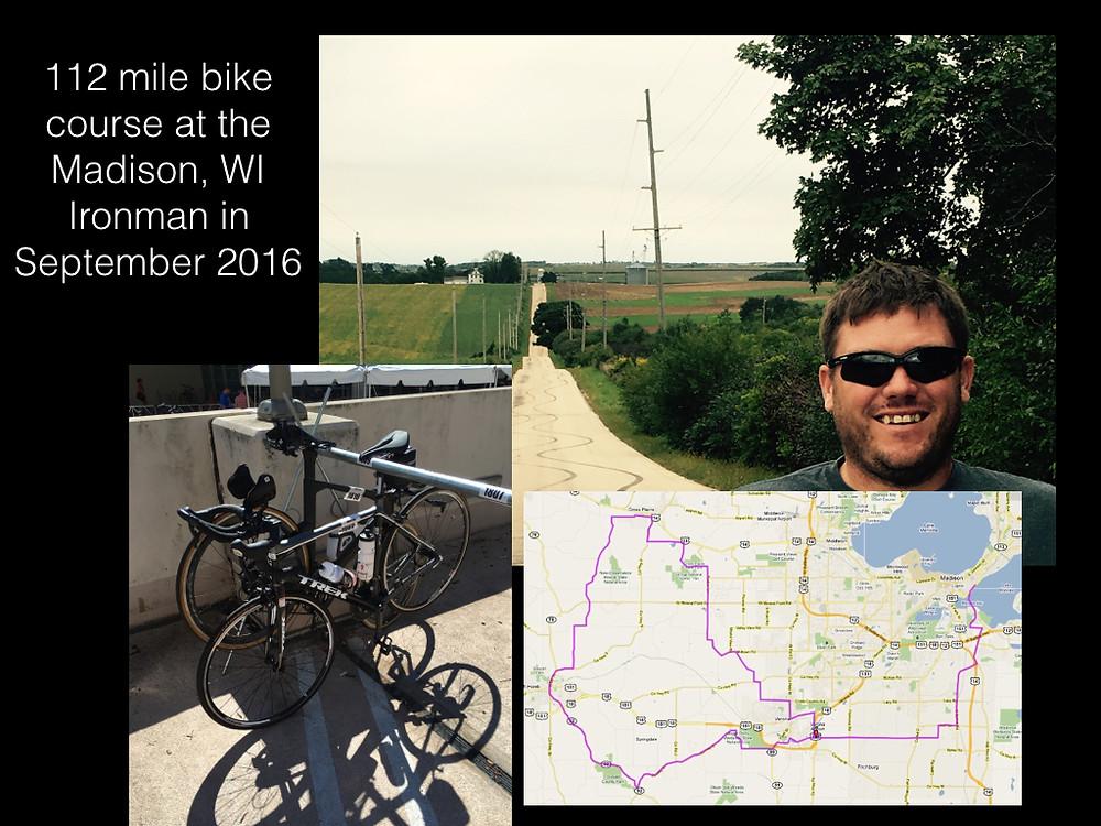 Ironman bike course in Madison, WI