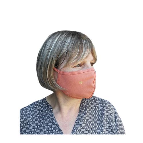 Herbruikbaar 2-laag stoffen mondmasker - Zalmroze