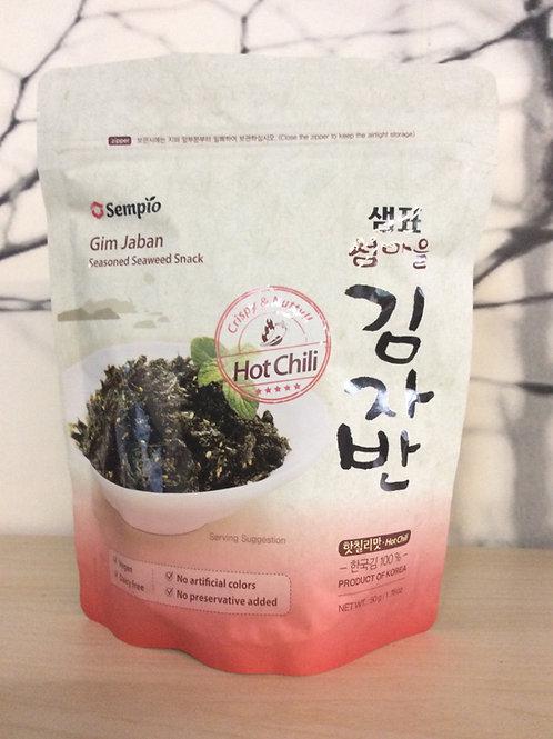 Seasoned Seaweed Snack Hot Chili - Vegan - Sempio 50g