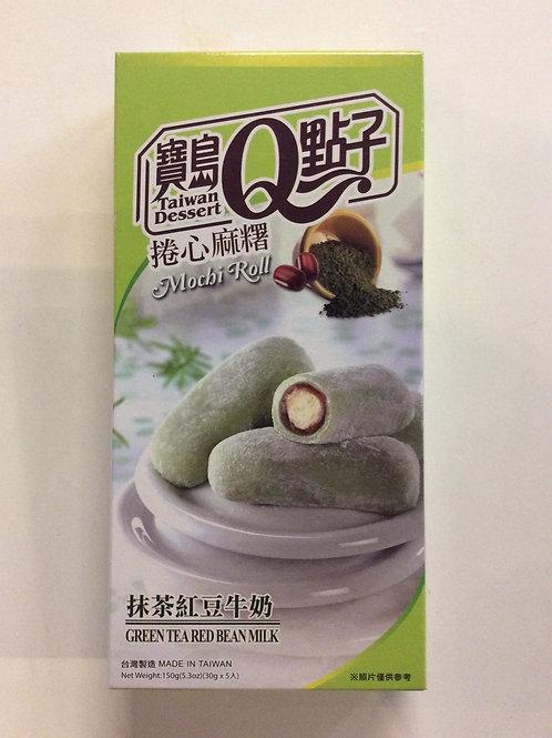 Green Tea Red Bean Milk Mochi 150g