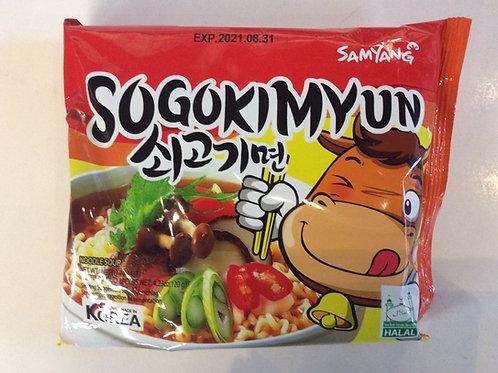 Sogokimyun Beef Noodles 120g