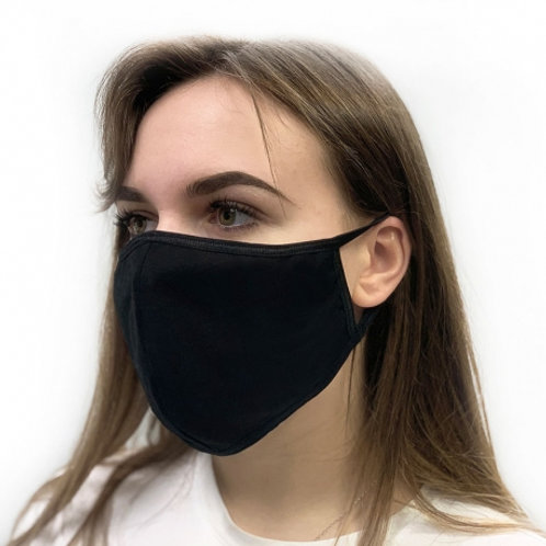 Herbruikbaar 2-laag mondmasker met filter - Zwart