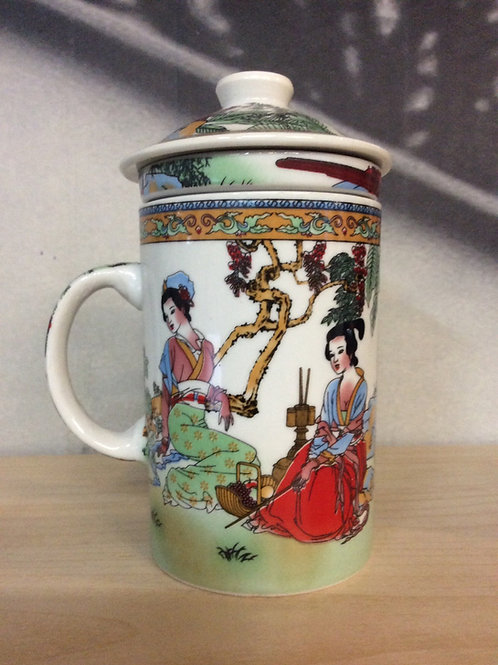 Lady Tea Cup Porcelain with filter