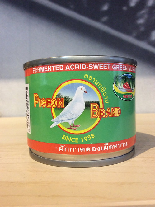 Fermented Acrid-Sweet Green Mustard Pieces in Soy Sauce 140g