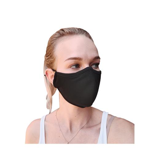 Herbruikbaar 3-laag antibacterieel mondmasker -Zwart