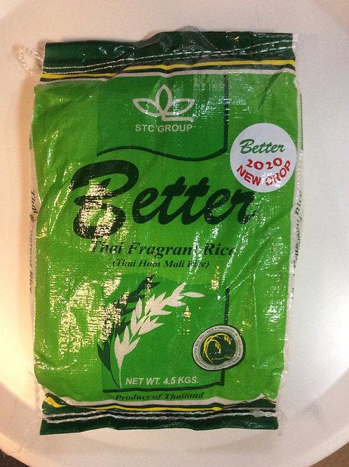 Thai Hom Mali Rice New Crop 2020 - Better - 4.5kg