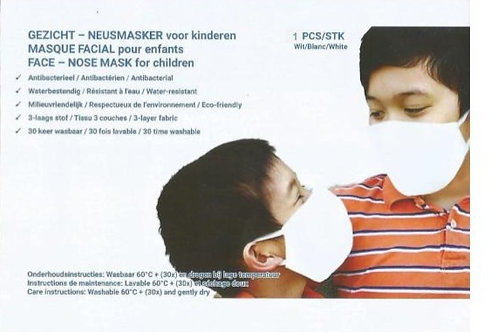 Wholesale-Facemask, child, white - Organisation