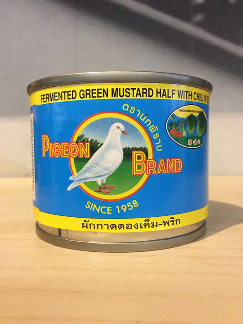 Fermented Green Mustard Half with Chili in Soy Sauce 140g