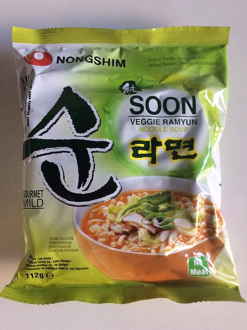 Soon Veggie Ramyun Noodle Soup Nongshim 112g