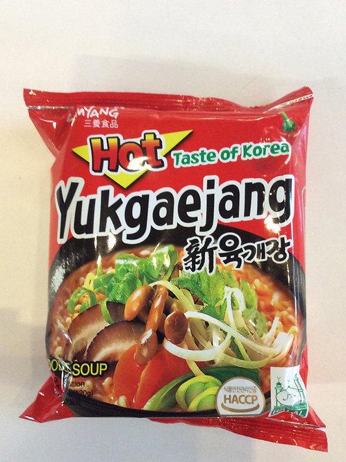 Yukgaejang Hot Taste of Korea Instant Noodles 120g