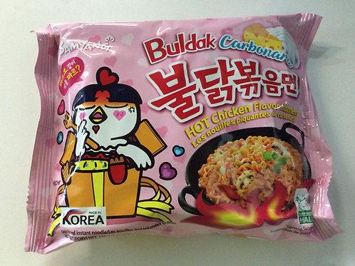 Instant Noodles - Hot Chicken Flavour - Buldak  Carbonara - Sam Yang - 130g