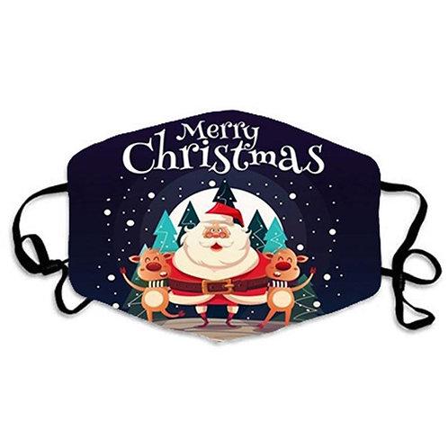 Face mask - Christmas and New Year - Dark Blue Santa Clause