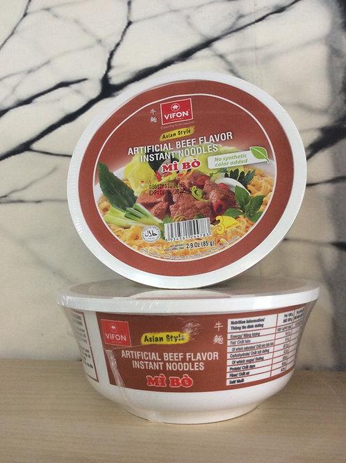 Vifon Instant Bowl Noodles - Artificial Beef Flavour 85 gram