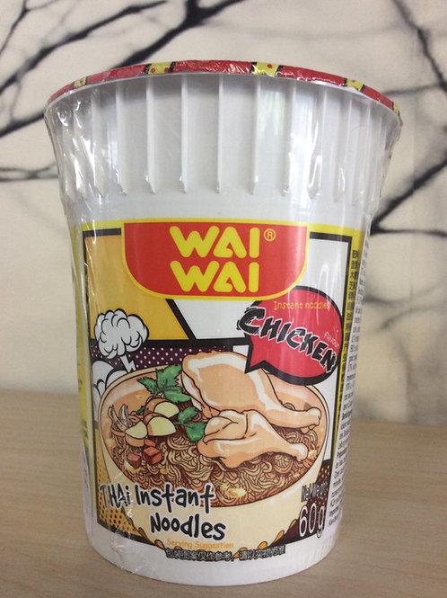 Wai Wai Chicken Thai Instant Cup Noodles 60 gram