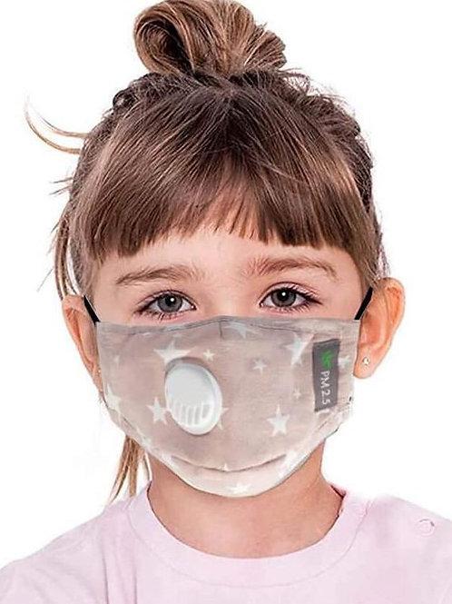 Facemask, children - filter, air valve, adjustable band, adjustable nose