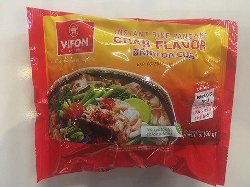 Instant Rice Pancake Crab Flavor - Bánh Đa Cua 60g