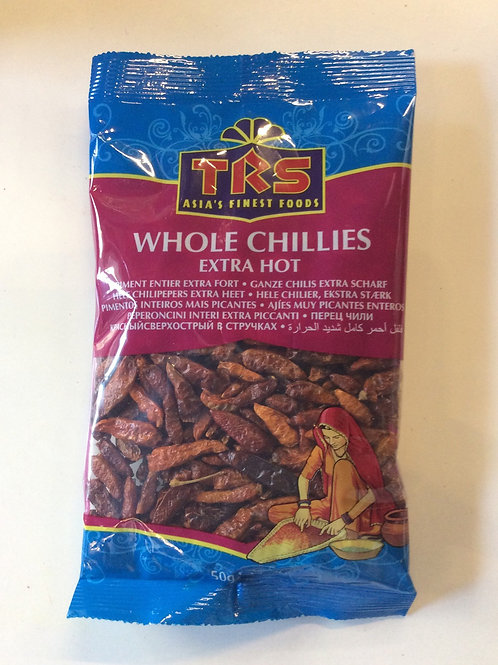 Whole Chilli Extra Hot 50g