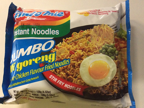 Instant Noodles - Jumbo Mi Goreng - Chicken Flavour - Indo Mie - 128g