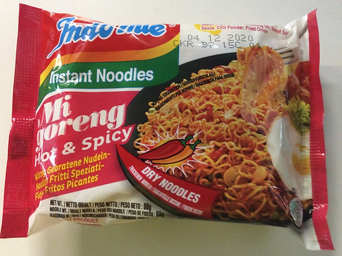 Instant Noodles - Mi goreng Hot & Spicy - Indo Mie - 80g