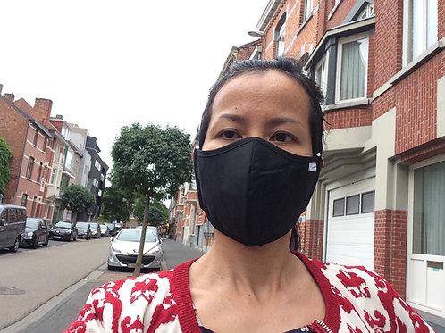 Antibacteriële 3-laags mondmasker met stoffiltering