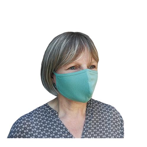 Herbruikbaar 2-laag stoffen mondmasker - Lichtgroen