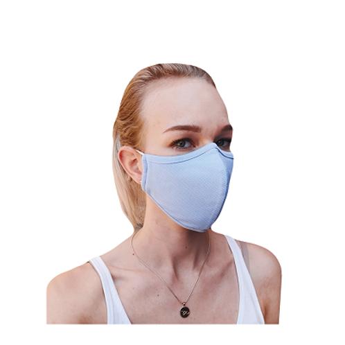 Herbruikbaar 3-laag antibacterieel mondmasker - Blauw
