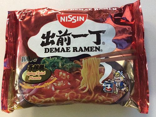 Instant Noodles - Demae Ramen - Spicy Flavour - Nissin - 100g