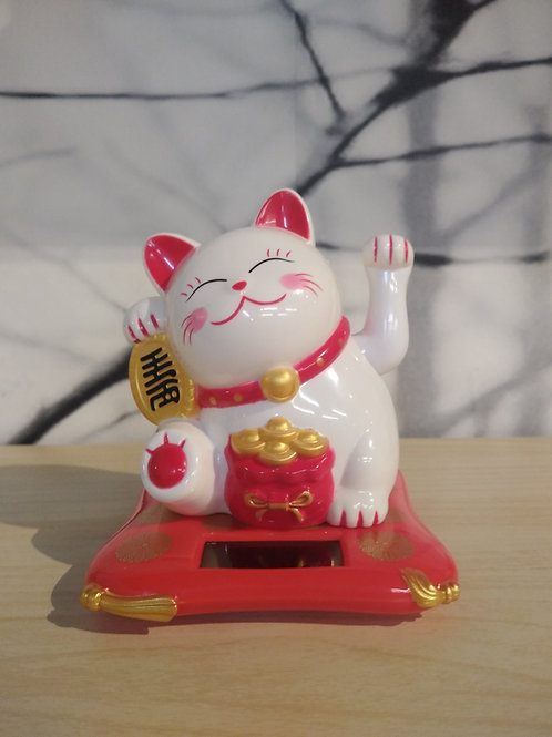 Gezwaaide gelukkig katje - Rood