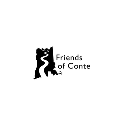 Friends Of Conte is a multi state (NH, MA, VT, CN) conservation group, dedicated to the preservation of the Connecticut River watershed.  The design references a map of the four states with the Connecticut River running from north to south. The upper border of the map is depicted as a mountain range, evoking a landscape. A similar logo was selected by the organization and can be seen on their website.   Friends of Conte: www.friendsofconte.org  2018