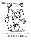 Coloring pages language development