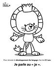 Coloriages Animaux placoteux développement langage