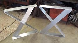 Aluminum X Table legs