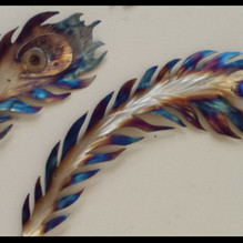 Peacock Feather- stainless steel