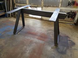 Welded steel table base