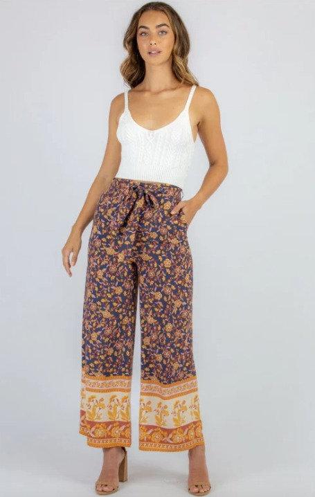 Boho Printed Wide Leg Pants