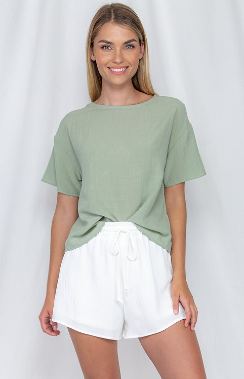 Textured Loose Fit Top