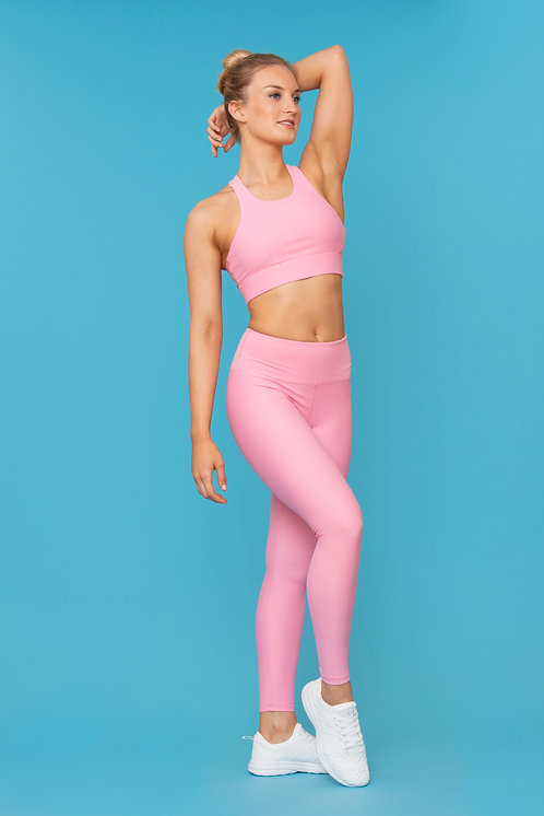 BARRE BURN LEGGINGS 2.0 - Strawberry Marshmallow