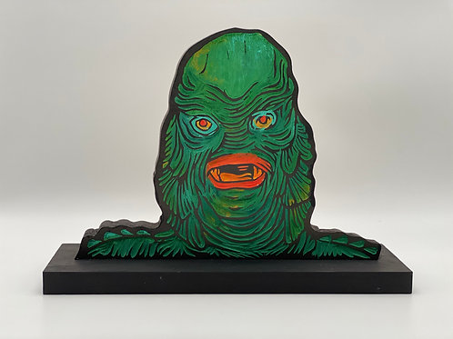Gill-man (The Creature) Woodcut