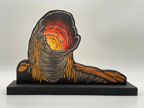 Dune Sandworm (Shai-Hulud) Woodcut by The Block Watch