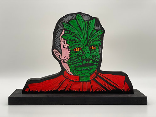 """""""V"""" Visitor Woodcut by The Block Watch"""