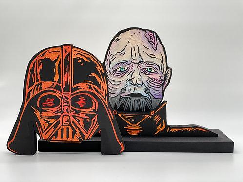 Darth Vader/Anakin Skywalker Woodcut
