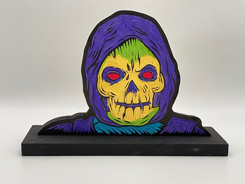 Mattel Skeletor Woodcut
