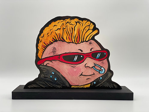 New Wave Dave Woodcut by The Block Watch