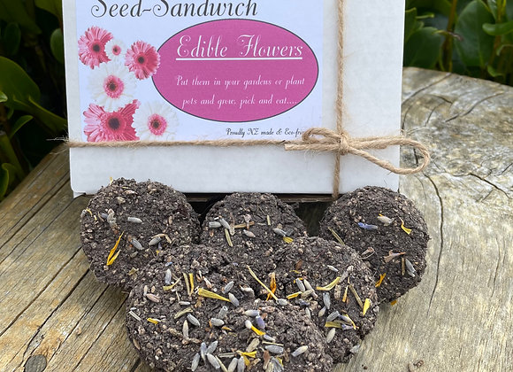 Seed Sandwich Edible Flowers